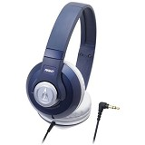 AUDIO-TECHNICA Street Monitoring Headphones [ATH-S500] - Navy - Headphone Full Size